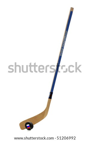 Ice hockey stick - stock photo