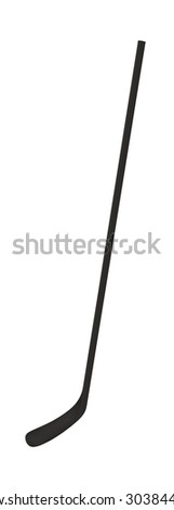 Ice hockey stick isolated on white background - stock photo