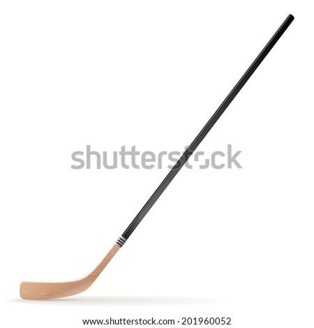 Ice hockey stick isolated on white background. Raster copy - stock photo
