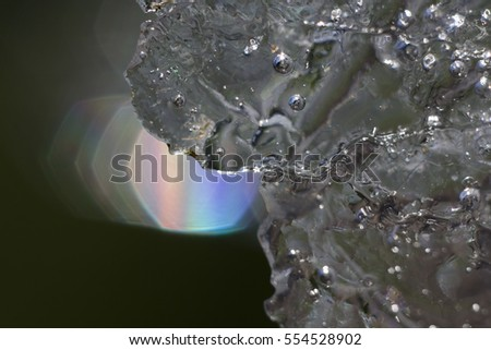 Ice in backlight
