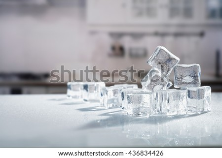ice in the kitchen - stock photo