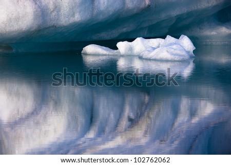 Ice Lake, Iceland - stock photo
