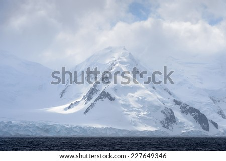 Ice landscape of SOuth Georgia - stock photo