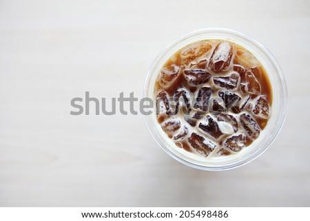 ice latte coffe - stock photo