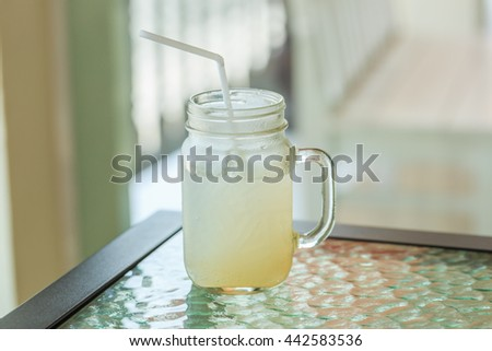 ice lemon juice glass