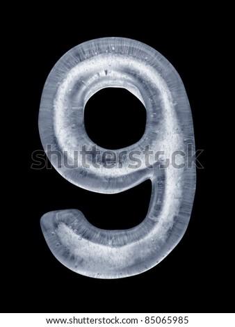 Ice Number 9 - stock photo