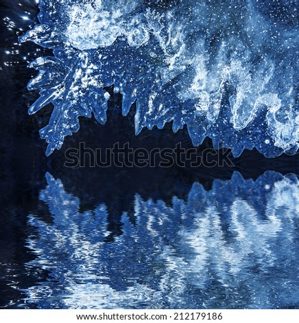 ice on a river  a beautiful abstract texture - stock photo