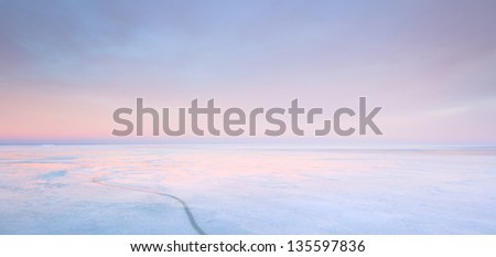 ice on the sea - stock photo