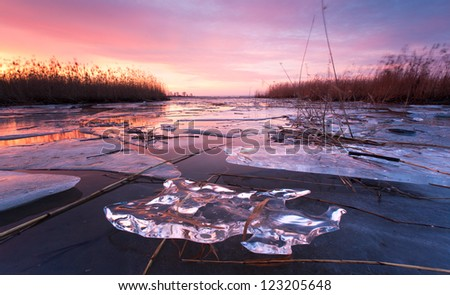 ice on water