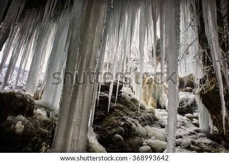 ice paradise - stock photo