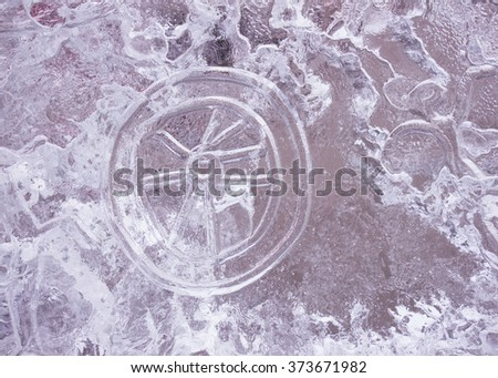 ice picture - stock photo