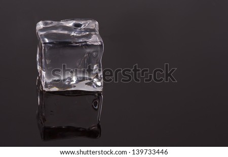 ice pieces to the smooth surface
