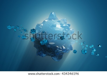 ice planet, 3d illustration - stock photo
