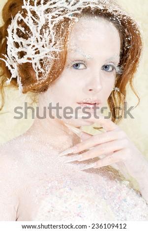 Ice princess portrait  - stock photo