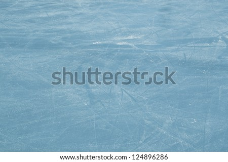 ice rink with scratches texture as a background - stock photo