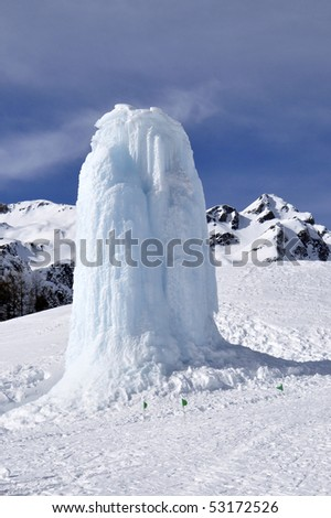 ice structure - stock photo