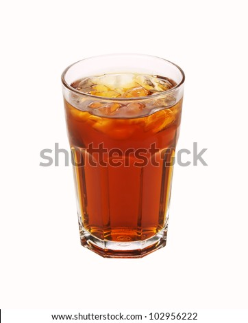 Ice Tea isolated on white background - stock photo