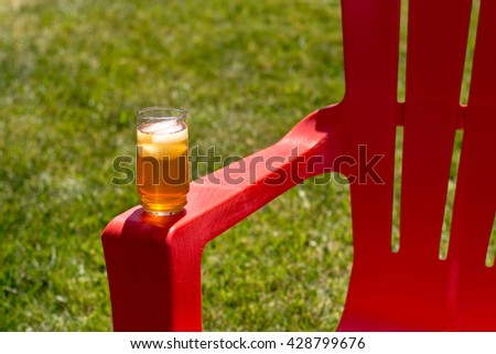 Ice Tea on Red Chair