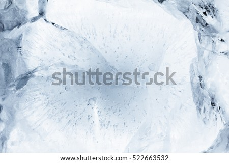Ice texture background, macro pattern frost. Crystal winter design