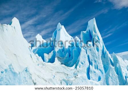 Ice texture in Perito Moreno glacier, patagonia argentina. - stock photo