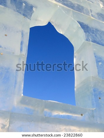ice wall - stock photo