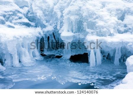 ice winter - stock photo