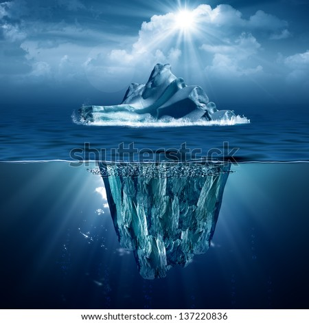 Iceberg. Abstract eco backgrounds for your design - stock photo