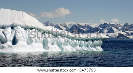 Iceberg art by melting - stock photo