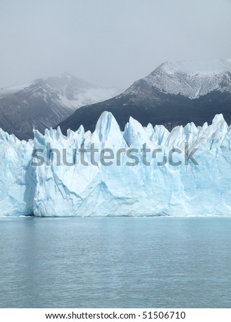 Iceberg floating on lake - Perito Moreno Glacier El Calafate Argentina - stock photo