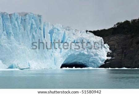 Iceberg floating on lake - Perito Moreno Glacier El Calafate Argentina - stock photo