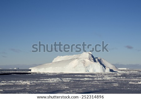 Iceberg in Antarctic - stock photo