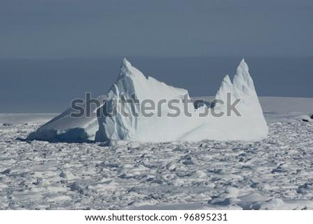 Iceberg in Antarctic Ocean - 6. - stock photo