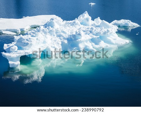 iceberg in antarctica on the cold weather - stock photo
