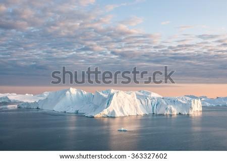 Iceberg in Greenland - stock photo