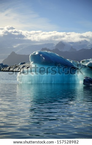 Iceberg Jokulsarlon Iceland - stock photo