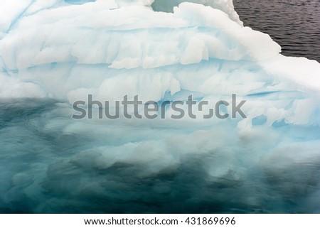 Iceberg on arctic ocean at Greenland - stock photo