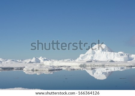 Icebergs and Antarctica fields