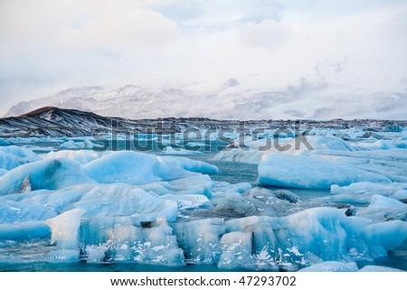 Icebergs in Jokulsarlon - stock photo