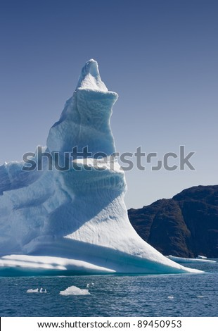 Icebergs of the western Greenland - stock photo