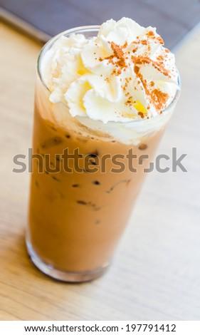 Iced coffee mocha - stock photo