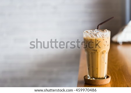 iced coffee on table