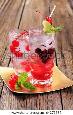 Iced drinks - stock photo