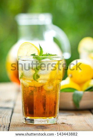 Iced tea - stock photo