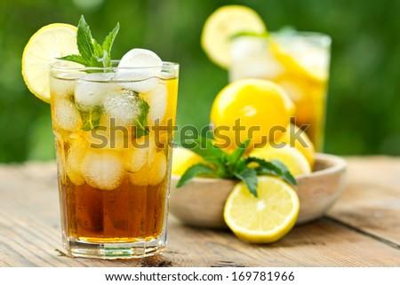 Iced tea - stock photo