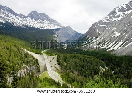 Icefield highway in Jasper National Park, Canada
