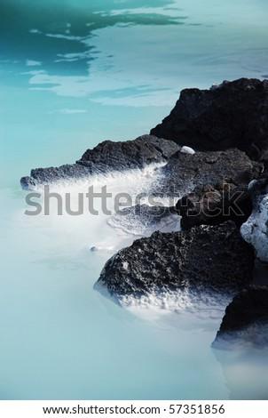 Iceland Blue Lagoon - stock photo