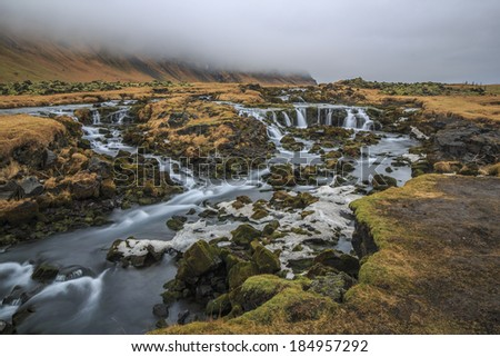 Iceland is located at the juncture of the North Atlantic and Arctic oceans. - stock photo