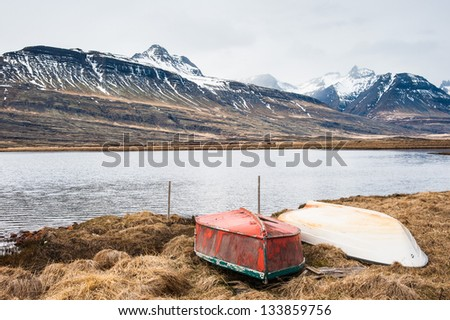 Iceland landscape - stock photo