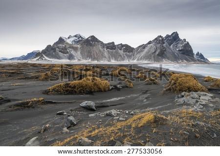 Iceland Landscape : Vestrahorn - stock photo