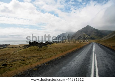 iceland ring road - stock photo